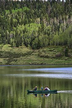 Canoe on Williams Reservoir by Mark Langford