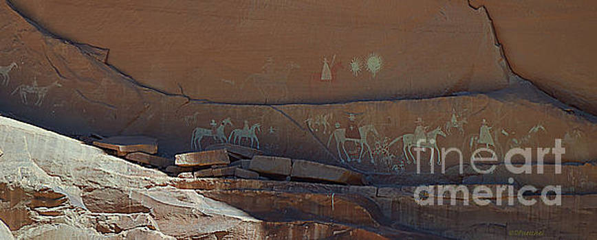 Canyon de Chelly Wall Petroglyphs by Debby Pueschel