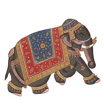 Caparisoned elephants on parade by Steve Estvanik
