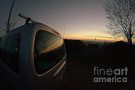 Car Sunset by Andy Thompson