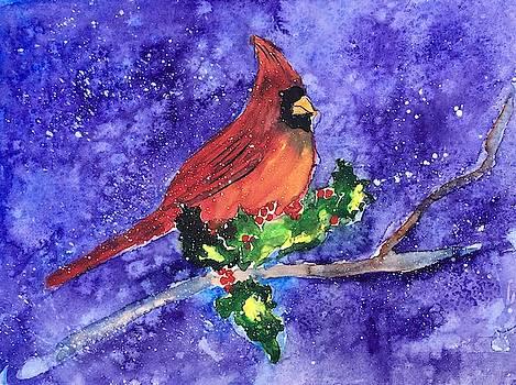 Cardinal In Winter by Marita McVeigh