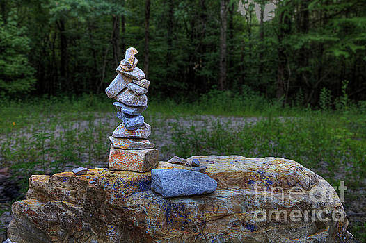 Larry Braun - Cairn at Harviell River Access