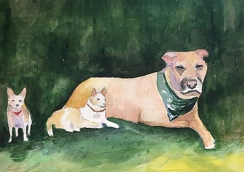 Carl, Doris and Piggy by Marita McVeigh