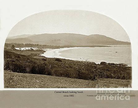 California Views Archives Mr Pat Hathaway Archives - Carmel Beach by C. E. Watkins Circa 1882