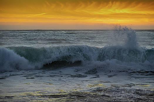 Carmel Beach Sunset California by Steve Gadomski