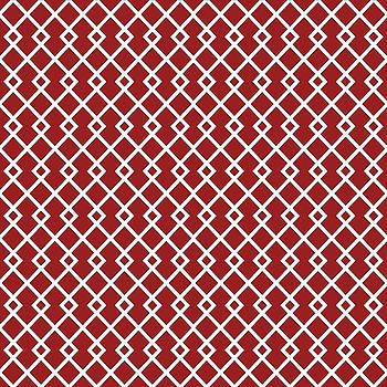Carmine Red Diamond Pattern Design by Ross