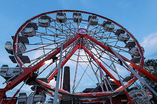 Carnival Ferris Wheel At Dusk by Steve Gadomski