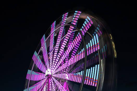 Carnival Ride At Night by Steve Gadomski