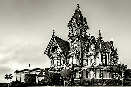 Carson Mansion Black and White by Bill Gallagher