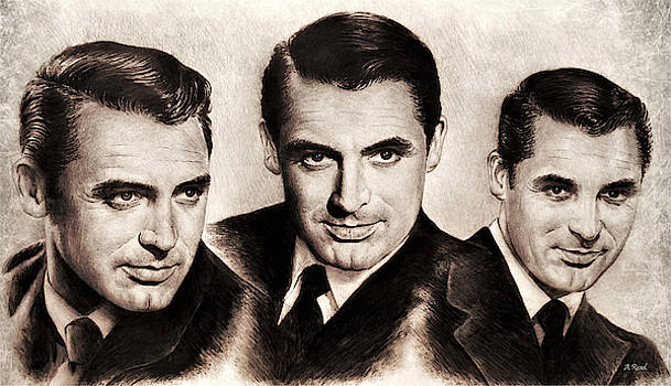Cary Grant sepia  by Andrew Read