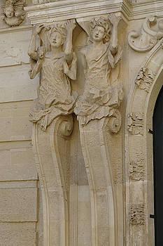 Caryatid columns support a palace entrance by Steve Estvanik