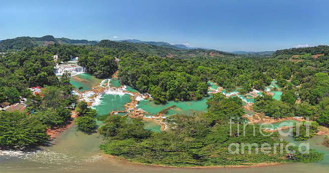 Cascadas de Agua Azul Panoramic by Randy Kostichka