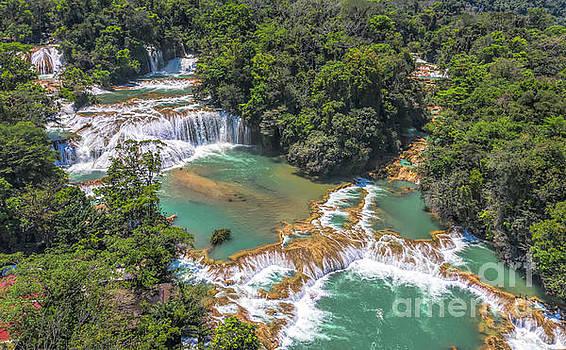 Cascadas de Agua Azul by Randy Kostichka