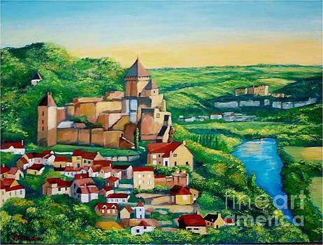Castelnaud Castle, France by Jean Pierre Bergoeing