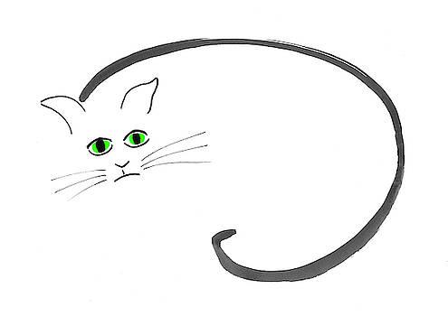 Cat in sumi-e style by Steve Clarke