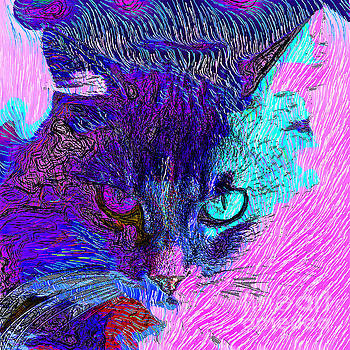 Cat Scratch Fever 20190204z square by Wingsdomain Art and Photography
