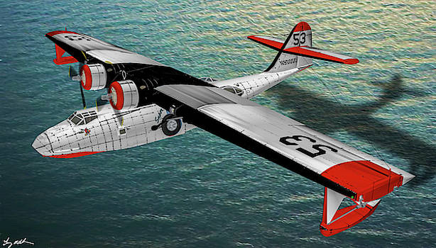 Catalina Fire Tanker - Oil by Tommy Anderson