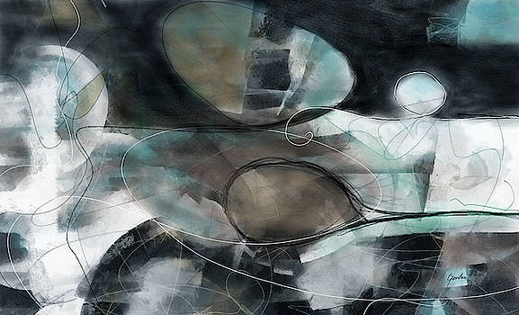 Catch Me If You Can - Large Contemporary Abstract Painting by Modern Art Prints