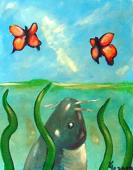 Catfish butterflies by Loretta Nash
