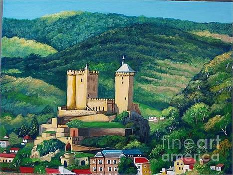 Cathar Foix Castle, France by Jean Pierre Bergoeing
