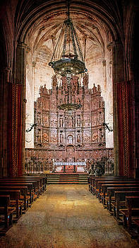 Cathedral Caceres Spain by Joan Carroll