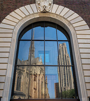 Cathedral of Learning and Heinz Chapel at the University of Pitt by Steven Heap