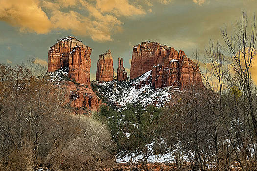 Cathedral Rock 5 plus clouds by Tom Clark