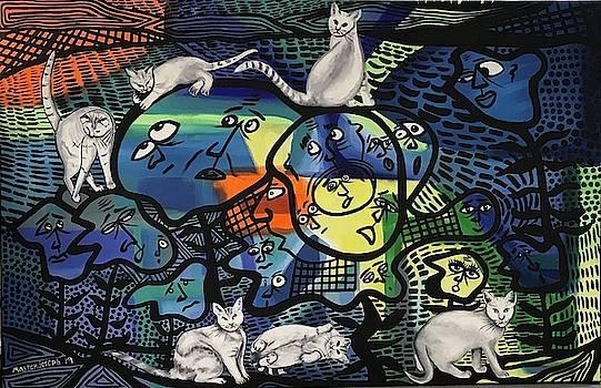 Catnip harvest cats rule the world by Anthony Masterjoseph
