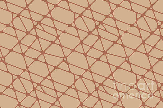 Cavern Clay SW 7701 Abstract Mosaic Pattern 2 on Ligonier Tan SW 7717 by Melissa Fague