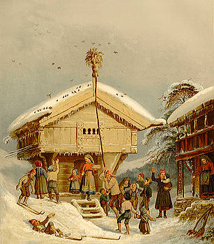 Celebrating Yuletide, by Adolph Tidemand by Zal Latzkovich