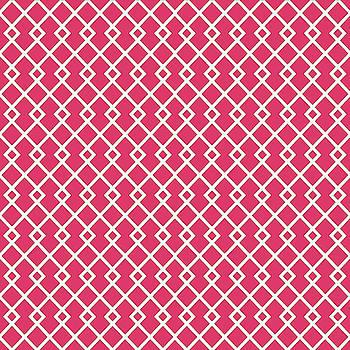 Cerise Pink Diamond Pattern Design by Ross