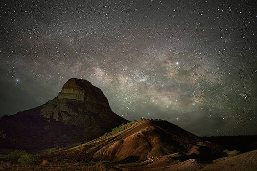 Cerro Castillano Under The Milky Way   by Harriet Feagin