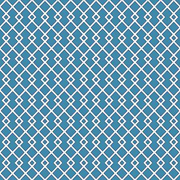 Cerulean Blue Diamond Pattern by Ross