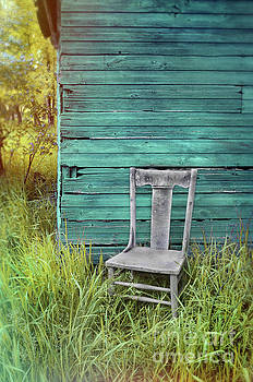 Chair by the Blue Shed by Jill Battaglia