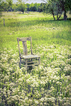 Chair in White Wildflowers by Jill Battaglia