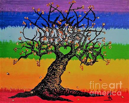 Chakra Love Tree by Aaron Bombalicki