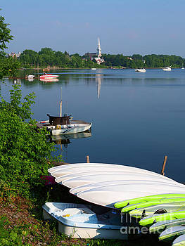 Chambly Basin and the Church of St Joseph in Quebec by Louise Heusinkveld