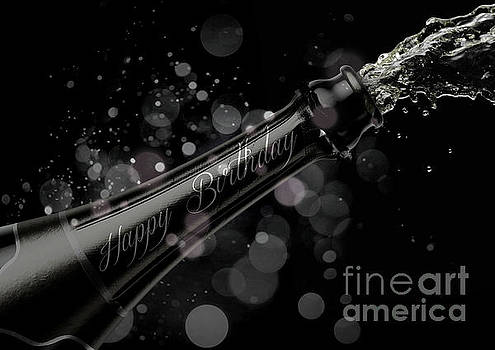 Champagne Bottle Birthday by Allan Swart
