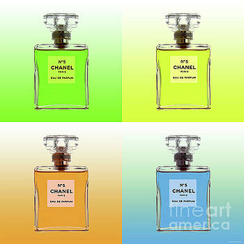 Chanel N0 5 - Warhol style 4 panels  by Jean luc Comperat