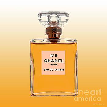 Chanel No 5 - Orange background by Jean luc Comperat