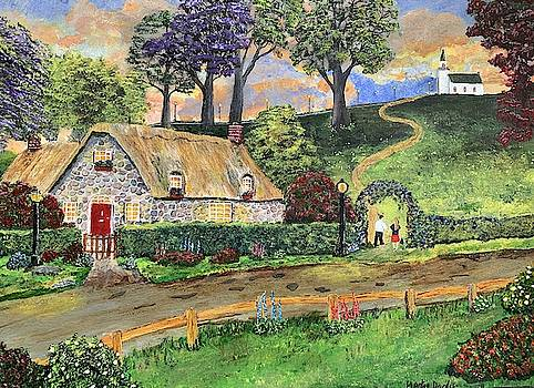 Chapel On The Hill Painting by Martin Dardis