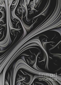 Charcoal Churn.Abstract Art  by Stephen Geisel