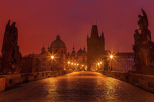 Charles Bridge in Prague by Andrew Soundarajan