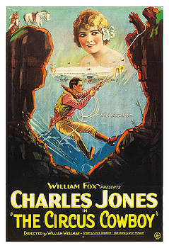 Charles Jones in The Circus Cowboy - Vintage Advertising Poster by Siva Ganesh
