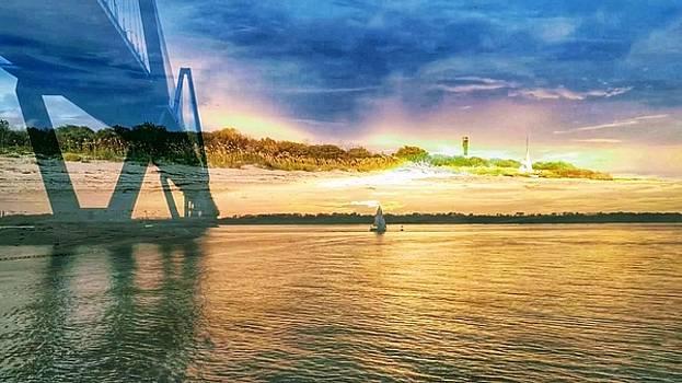 Charleston Harbor SC by Sherry Kuhlkin