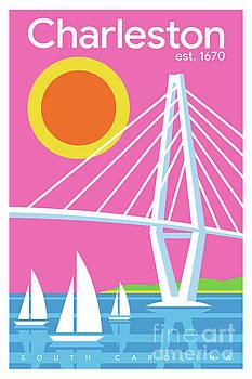 Charleston Poster - Modern Travel  by Jim Zahniser