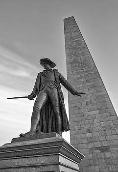 Charlestown Bunker Hill Monument and William Prescott by Juergen Roth
