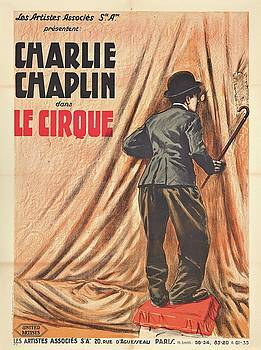 Charlie Chaplin dans Le Cirque - Vintage Advertising Poster by Siva Ganesh