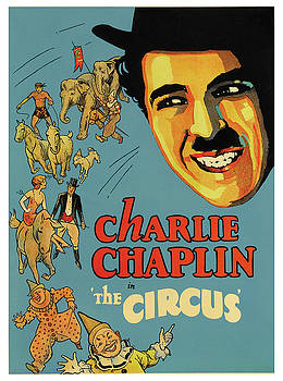 Charlie Chaplin in the Circus - Vintage Advertising Poster by Siva Ganesh