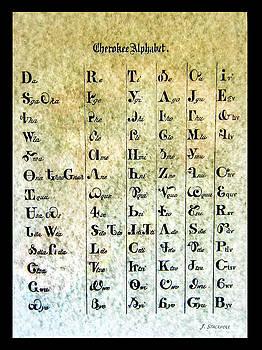 Cherokee Indian Alphabet by Jennifer Stackpole